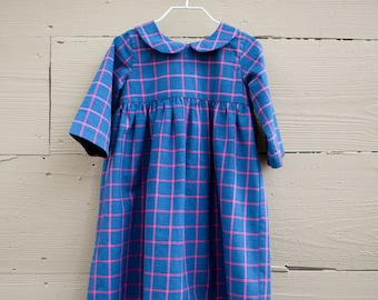 Baby and Toddler Girls Dress / Fall Dress / Spring Dress / Girls Plaid Dress