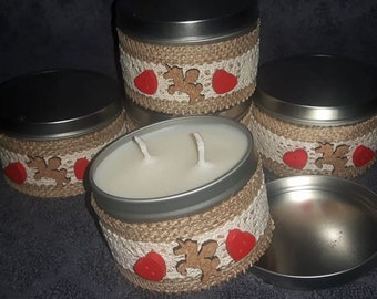 fairy sparkle (like Lush snow fairy) eco soy wax, handpoured, double wicked candle