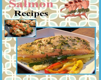 373 Salmon Recipes E-Book Cookbook Digital Download
