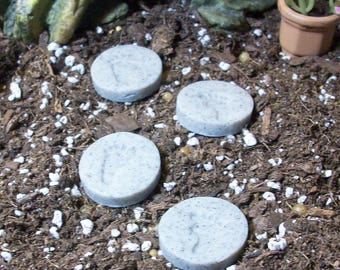 miniature footprint stepping stones set of 4 Fairy or gnome gardens