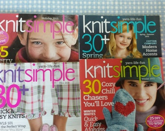 Knit Simple Magazine 4 Issues Projects for all Seasons Knitting Magazine Collection 2015/2016