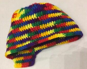 Multi Color Beanie  _ Rainbow Beanie [Medium Size]
