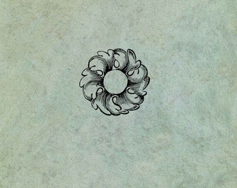 Round Ornate Flourish SMALL- Antique Style Clear Stamp