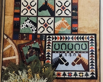 Quilt Pattern/Horse/Western Theme/Wall Hanging/Pillow