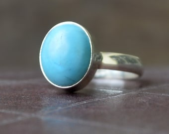 Turquoise ring,  Oval Cab Blue Arizona Turquoise Gemstone Ring , 925 sterling silver Ring,  14K Yellow Gold Fill, Rose Gold Fill Jewelry
