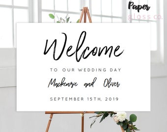 INSTANT DOWNLOAD Wedding Welcome Sign, Welcome Sign, Wedding Sign, Printable Wedding Welcome Sign, Calligraphy, Editable