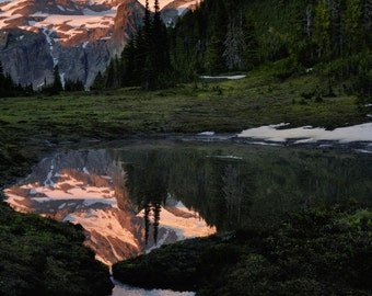 Sunset on Mt. Rainier -  Photography Print
