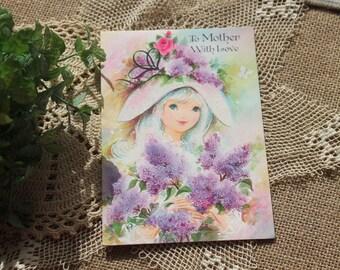 Vintage Mothers birthday card,vintage card,happy birthday card,shabby chic card,cottage chic card,mothers card,mothers birthday,