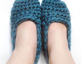 Super Quick Slippers - 9 Sizes - PDF Crochet Pattern - Instant Download