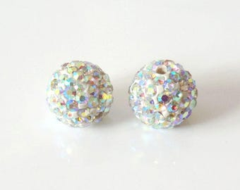 1 x bead ball 8mm Crystal AB Crystal rhinestones