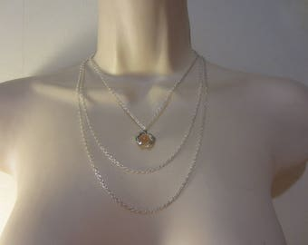 Silver MULTISTRAND necklace