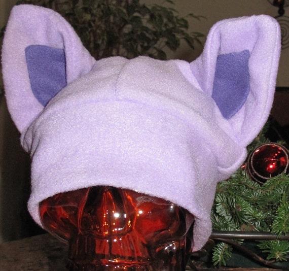 Cosplay Purple Espeon fleece ear hat in 6 sizes