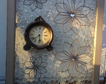 Repurposed decorative antique window