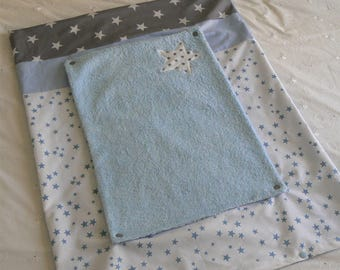 Changing mat cover + sponge to order blue, white and grey