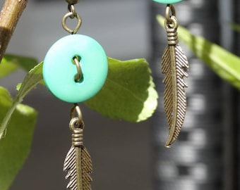 Inspiration - Earrings buttons and charms