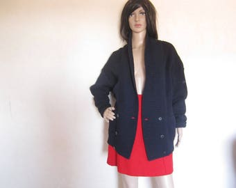 Vintage 70s Wool Cardigan March Cardigan wool oversize