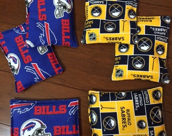 "Buffalo themed rice Bags set of 8, 5"" x 7"""