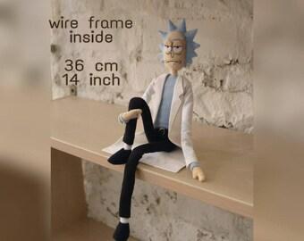 Rick Sanchez stuffed doll, plush toy, geek gift, get schwifty, cosplay, pickle rick