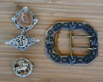 Joan of Arc Antique Jewelry LOT Destash Value Bargain