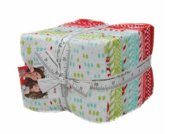 Vintage Holiday FLANNEL by Bonnie & Camille - Fat Quarter Bundle for Moda