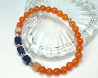 Quartzite Stretch Bracelet, Stacking Bracelet, Layering Bracelet, Gemstone beaded bracelet