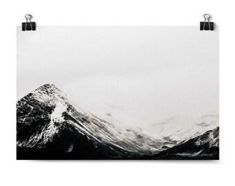 Landscape Print, Iceland Art Print, Mountain, Fog, Fine Art Photography, Neutral Wall Art, Mountain Decor, Home Decor, Affordable Wall Art