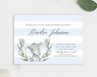 Elephant Baby Shower Invitation Boy Baby Shower Elephant Invitation Baby Boy Baby Shower Invitation Boy Elephant Invitation Baby Shower LBE