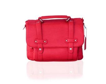 Women Camera Bag - Stylish Messenger Camera Bag - Poppy Red - DSLR Bag - Crossbody Camera Bag
