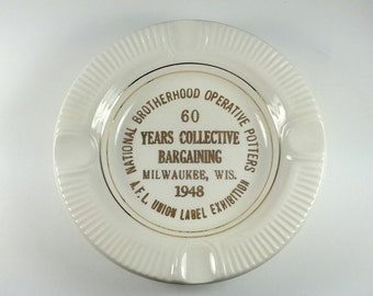 Commemorative Ashtray National Brotherhood Operative Potters 1948