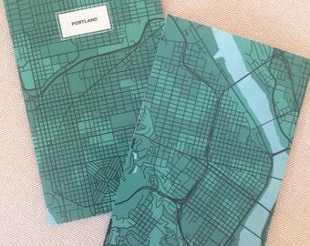 Portland Map Notebook