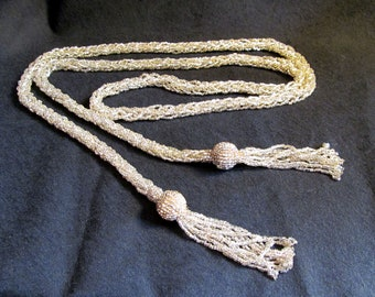 Seed Bead Lariat Necklace
