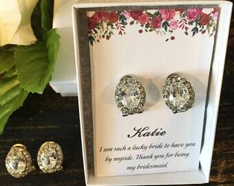 Gorgeous Crystal Stud Earrings