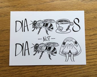 Diabetes Pronunciation Postcard