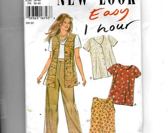 New Look Misses' Tops Pattern 6362