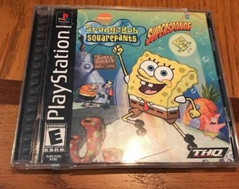 SpongeBob SquarePants: SuperSponge (Sony PlayStation 1, 2001)