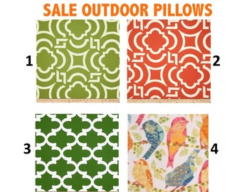 SALE  OUTDOOR Halloween Pillow cases Outdoor Pillows Decorative orange coral green,18x18 16X16, 14x16, 14x14, 12x16, 12x12, 10x10