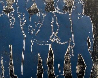 Good Company | Lino Print