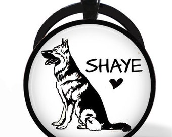 Custom hand-drawn One of a Kind Pet Necklace or Keychain