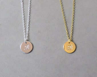 Engraved Initial B Necklace