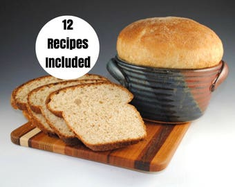 Bread Baker, Bread Crock, 12 RECIPES Included - Baking Dish - Bread Baker with Recipes - Bread Pan - In Stock and Ready to Ship