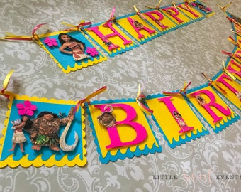 Moana Birthday Banner, Moana Banner, Moana Birthday, Moana, Moana Party, Moana Party Supplies