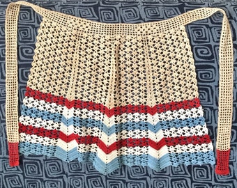 Made-In-The-USA Crochet Vintage Apron
