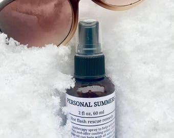 Personal Summers - Hot flash rescue remedy, aromatherapy spray, menopause, hot flashies, night sweats, menopausal support