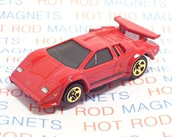 Lamborghini Countach - Hot Rod, Man Cave, Refrigerator, Tool Box, Stocking Stuffer, Magnet