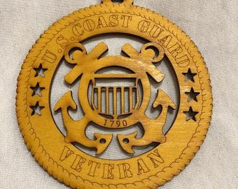 U.S Coast Guard Veteran Ornament