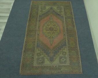 Vintage Oushak Rug, Faded Oushak Rug, Anatolian Oushak Rug, Rugs, Ethnic Rug