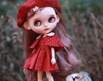 RED set for Blythe Doll