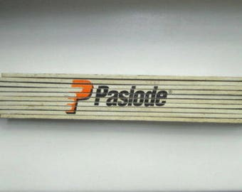 Paslode Wooden Folding Ruler Measuring Tape Stick 2 Meters Long Centimeters Used