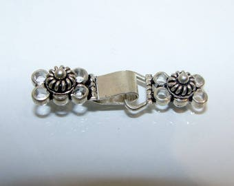 Hook clasp double row first money title, 38 mm x 8 mm. (2309969)