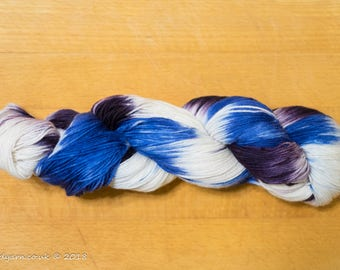Blueberry Sundae Hand Dyed Merino Sock Yarn